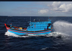 Indonesian illegal fishers' boats destroyed