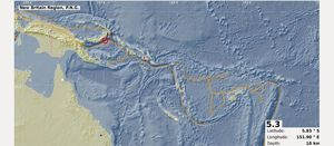 Minor 5.3 rumble for Rabaul