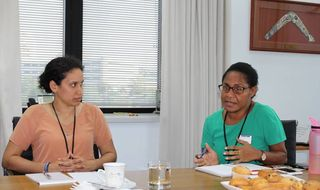 Roundtable Naidoc talks with PNG women