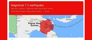 Morobe hit by 7.2 earthquake