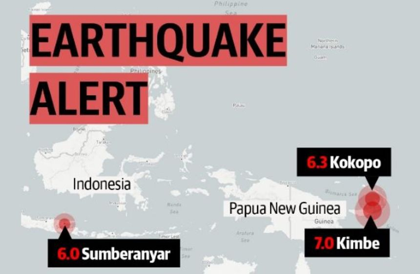 Indonesia, Papua New Guinea hit by new earthquakes