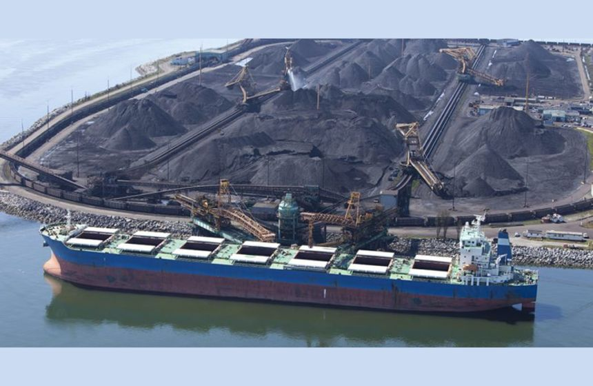Indonesian coal ships stranded