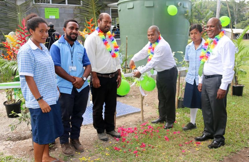 BSP installs water tanks for school