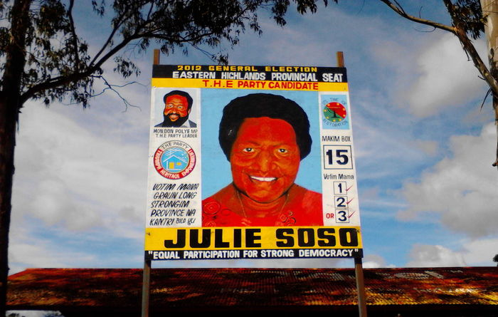 Does standing more than once help women in PNG elections?