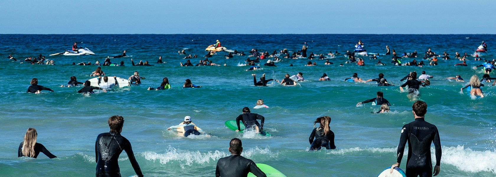 Surfers in oil, gas protest