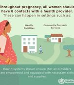 New pregnancy care guidelines from WHO