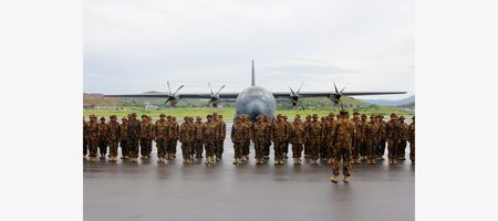 Historic moment for PNG troops