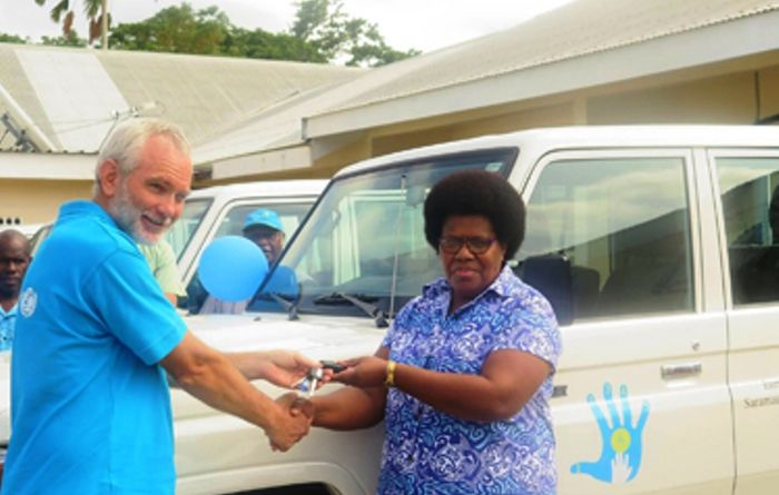 UNICEF donates vehicles to help Vanuatu vaccinations