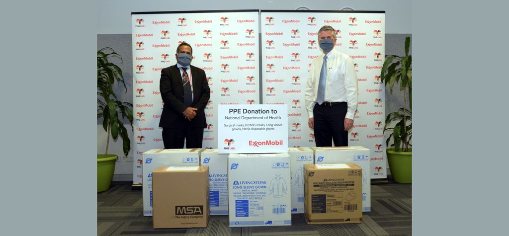 Exxon donates PPE for virus fight