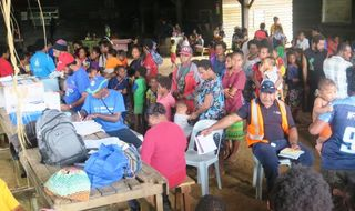 Medical help for remote villagers