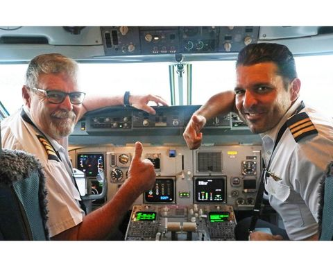 Dad, son first for Air Niugini